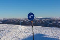Norwegian skiing landscape Royalty Free Stock Photo