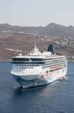 Norwegian Spirit cruise ship in Mykonos Stock Photo