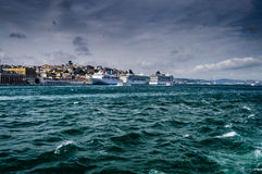 Norwegian Spirit And MSC Preziosa On Istanbul Royalty Free Stock Image