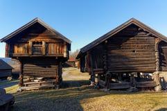 Norwegian stabbur, building for food Stock Images