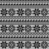 Norwegian star knitting pattern Stock Images