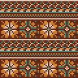 Norwegian star knitting pattern Royalty Free Stock Photography