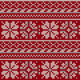 Norwegian star knitting pattern Royalty Free Stock Image