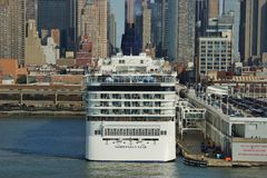 Norwegian Star in Port Of New York. Royalty Free Stock Photography