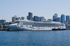 Norwegian Star Ship in Seattle Stock Photography