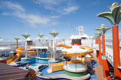 Norwegian Star Waterpark Stock Photo