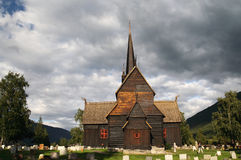 Norwegian stave church Stock Image