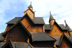 Norwegian stave church Stock Photography