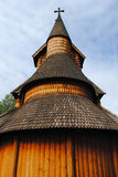 Norwegian stave church Royalty Free Stock Images