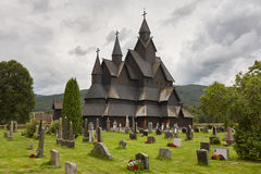 Norwegian stave church. Heddal. Historic building. Norway touris Royalty Free Stock Images