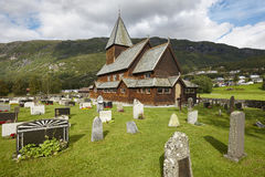 Norwegian stave church. Roldal. Historic building. Norway touris Royalty Free Stock Photo