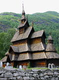 Norwegian Stavkirke Stock Photography