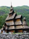 Norwegian Stavkirke Stock Photography