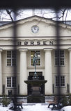 The Norwegian Stock Exchange behind bars stock photos