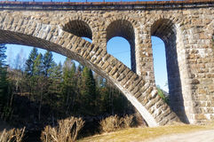 Norwegian stone arch bridge Stock Photos