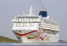 Norwegian sun. Cruise ship the Norwegian sun leaving Amsterdam Stock Photography