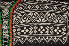Norwegian Sweater Detail. Detail of the traditional Norwegian sweater pattern Royalty Free Stock Photography