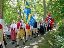 Norwegian Swedish wedding Stock Image