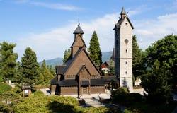 Norwegian temple Wang. In the polish mountain Royalty Free Stock Photo