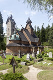 Norwegian temple Wang in Karpacz, Poland. Stock Images