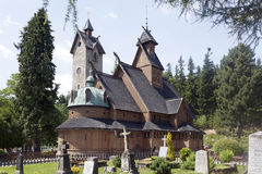 Norwegian temple Wang in Karpacz, Poland. It was built in the twelfth century in Norway Stock Photo