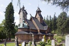 Norwegian temple Wang in Karpacz, Poland. Stock Photo