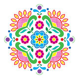 Norwegian traditional folk art Bunad pattern - Rosemaling style embroidery Royalty Free Stock Photography