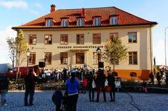 Norwegian traditional folk performances royalty free stock photos