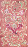 Norwegian traditional rosepainting Royalty Free Stock Images