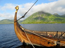 Norwegian viking warship Royalty Free Stock Photo