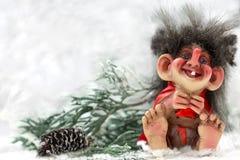 Norwegian  troll. Norwegian christmas troll- national toys Royalty Free Stock Photos