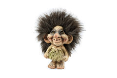 Norwegian Troll. The Norwegian troll. Isolated on the white background Stock Images