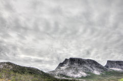 Norwegian tundra and mountains Royalty Free Stock Image