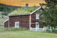 Norwegian typical house. Norwegian typical grass roof country house Stock Image