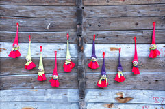 Norwegian typical puppets. Royalty Free Stock Images