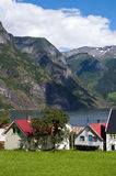 Norwegian village Stock Photo