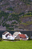 Norwegian village. Photo of Undredal, a little Norwegian village on the Sognefjord, Norway Royalty Free Stock Photo