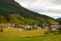The Norwegian village Royalty Free Stock Images