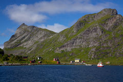Norwegian village Stock Image