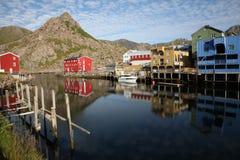 Norwegian village Stock Photos