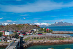 Norwegian village on island Stock Photography