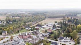 Norwegian Village, Magnor stock video footage