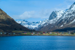 Norwegian village in mountains Royalty Free Stock Photography