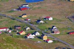 Norwegian village. Scenic norwegian village on Lofoten islands in summer Stock Image