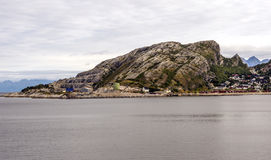 Norwegian village by the sea Royalty Free Stock Photos