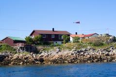 The Norwegian village Skrova on Lofoten Islands Royalty Free Stock Photos