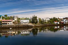 Norwegian village Svolvaer Royalty Free Stock Images