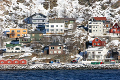 Norwegian Village in Winter Royalty Free Stock Photography