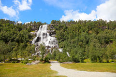 Norwegian waterfall. Royalty Free Stock Image