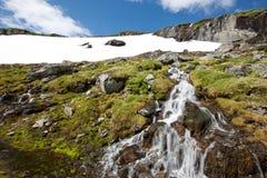 Norwegian waterfall Stock Images